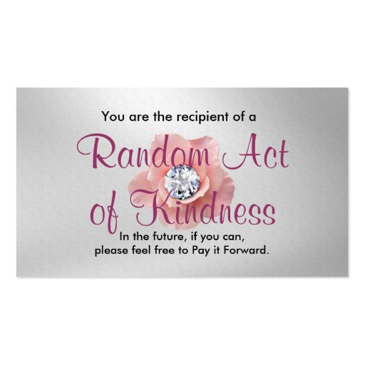 Random Act of Kindness Cards Double-Sided Standard ...