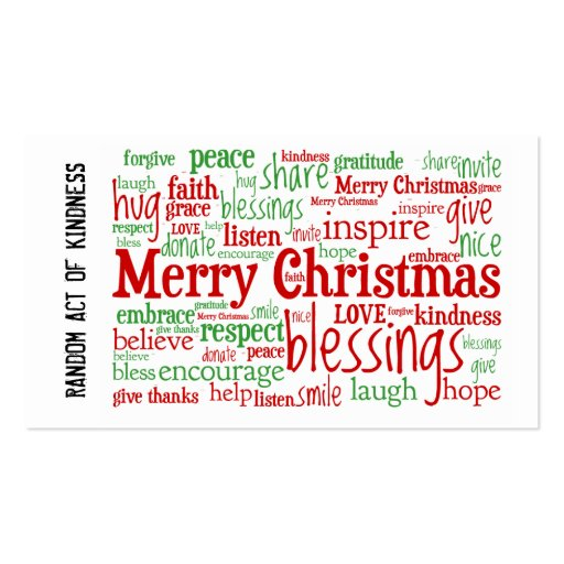 Random Act of Kindness Christmas Cards Double-Sided ...