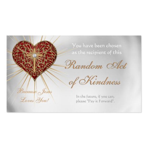 Random Acts of Kindness Personal wallet cards - Business ...