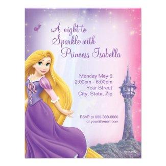 Rapunzel Princess Birthday Party Personalized Invitations