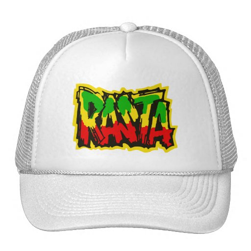 Rasta reggae graffiti trucker hat | Zazzle