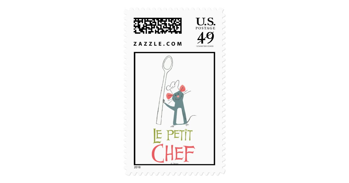 Ratatouille Remy Vintage Standing With Spoon Postage Zazzle