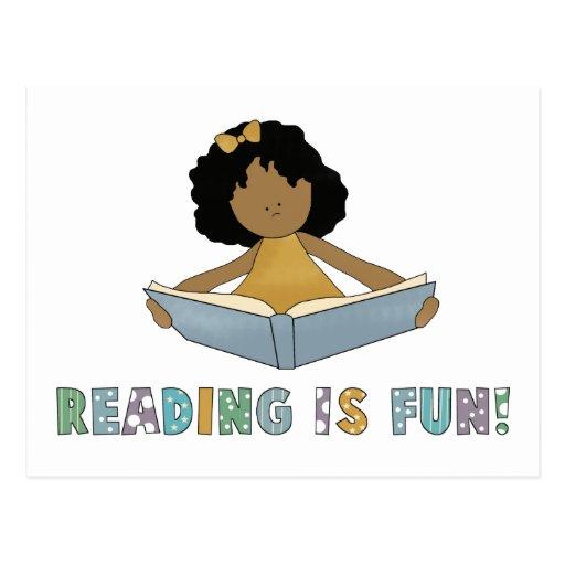 Reading Is Fun! Postcard | Zazzle