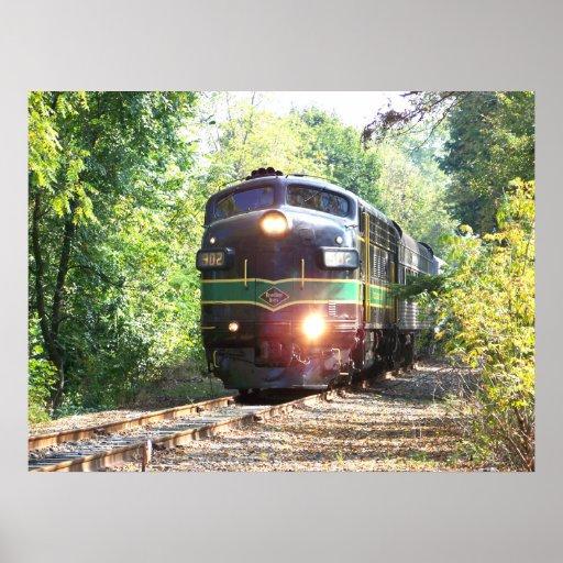 Railroad and Train Watercolor Paintings & Illustrations ... |Reading Railroad Train Art Prints
