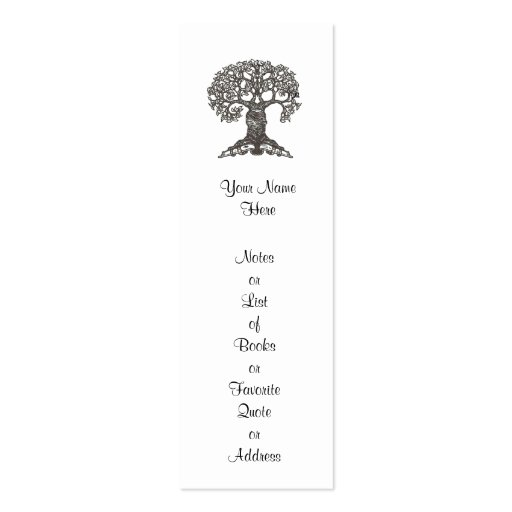 create your own bookmark template - reading tree mini bookmark to customize business card