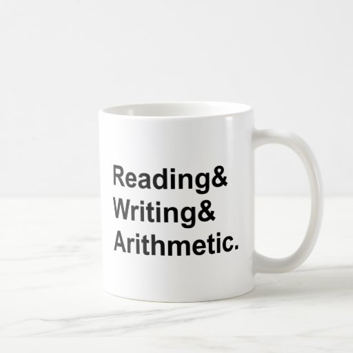Reading writing arithmetic images