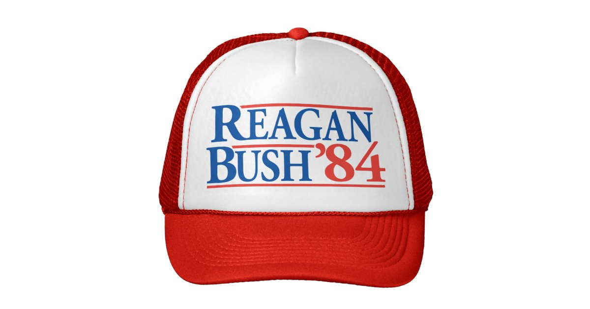 Reagan Bush 84 Hat Zazzle