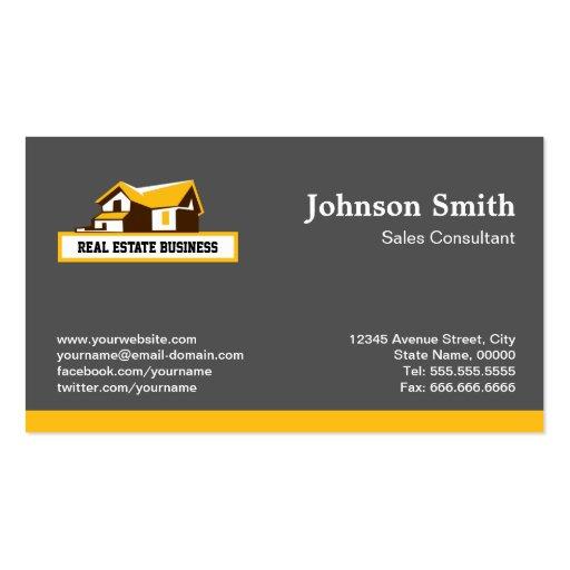 real estate broker realtor  modern stylish yellow