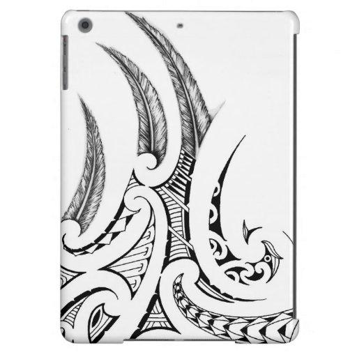 Maori Feather Tattoo: Realistic Feathers In Maori Wings Tattoo Design IPad Air