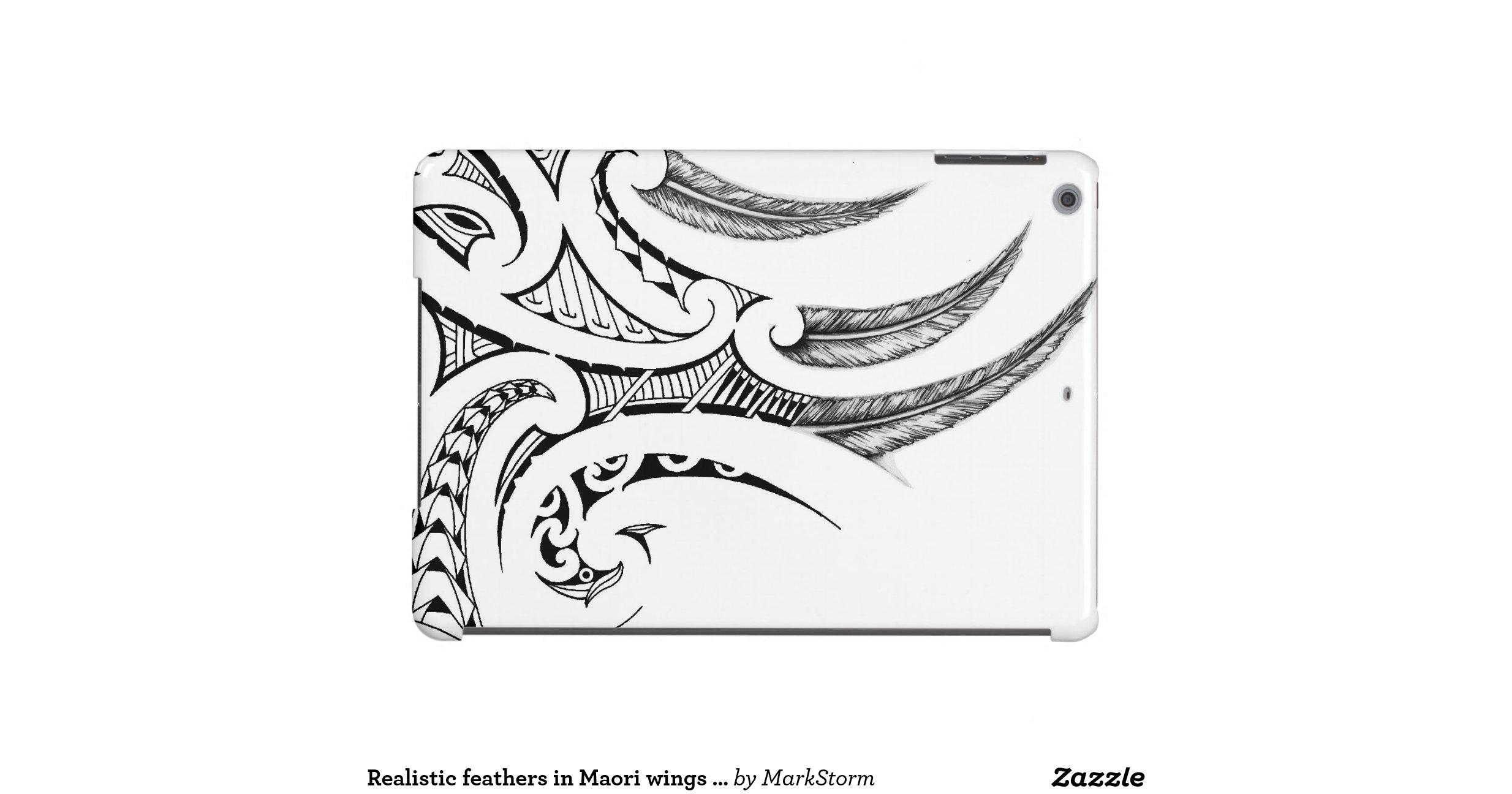 Maori Feather Tattoo: Realistic Feathers In Maori Wings Tattoo Design Cover For