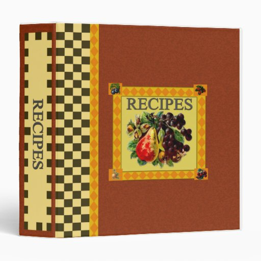 Recipe Book 3 Ring Binders