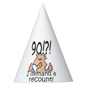 Recount 90th Birthday Party Hat