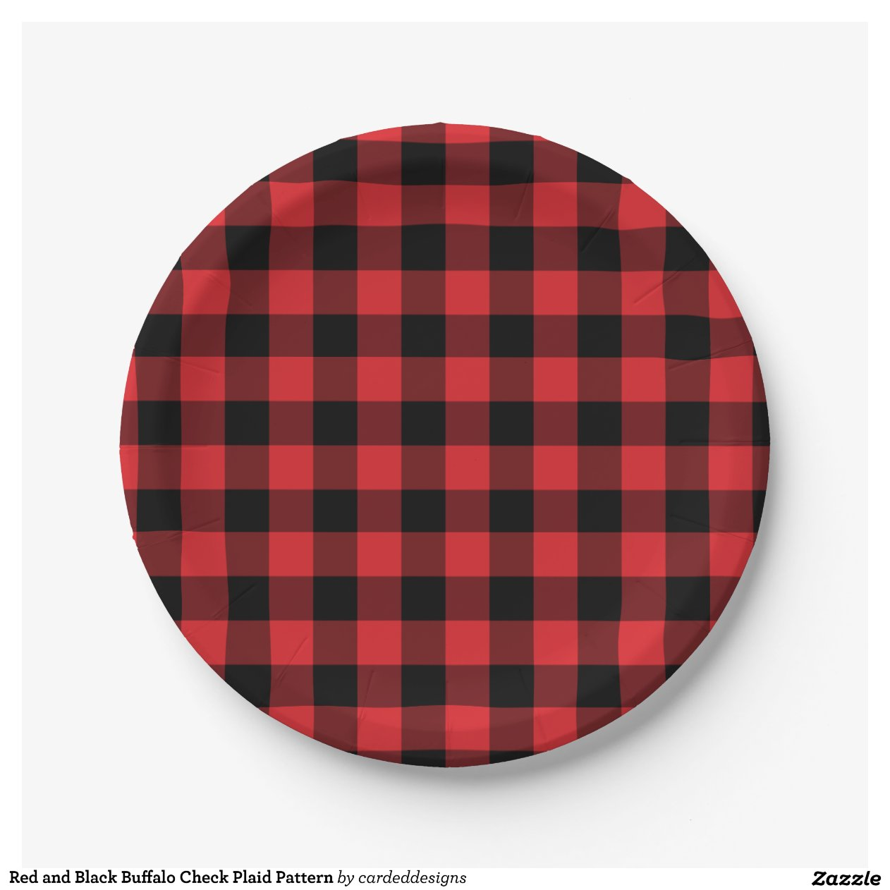 Kitchen Redo Ideas Red And Black Buffalo Check Plaid Pattern 7 Inch Paper