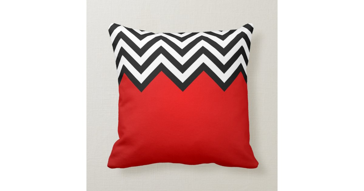 Red And Black Lodge Throw Pillow