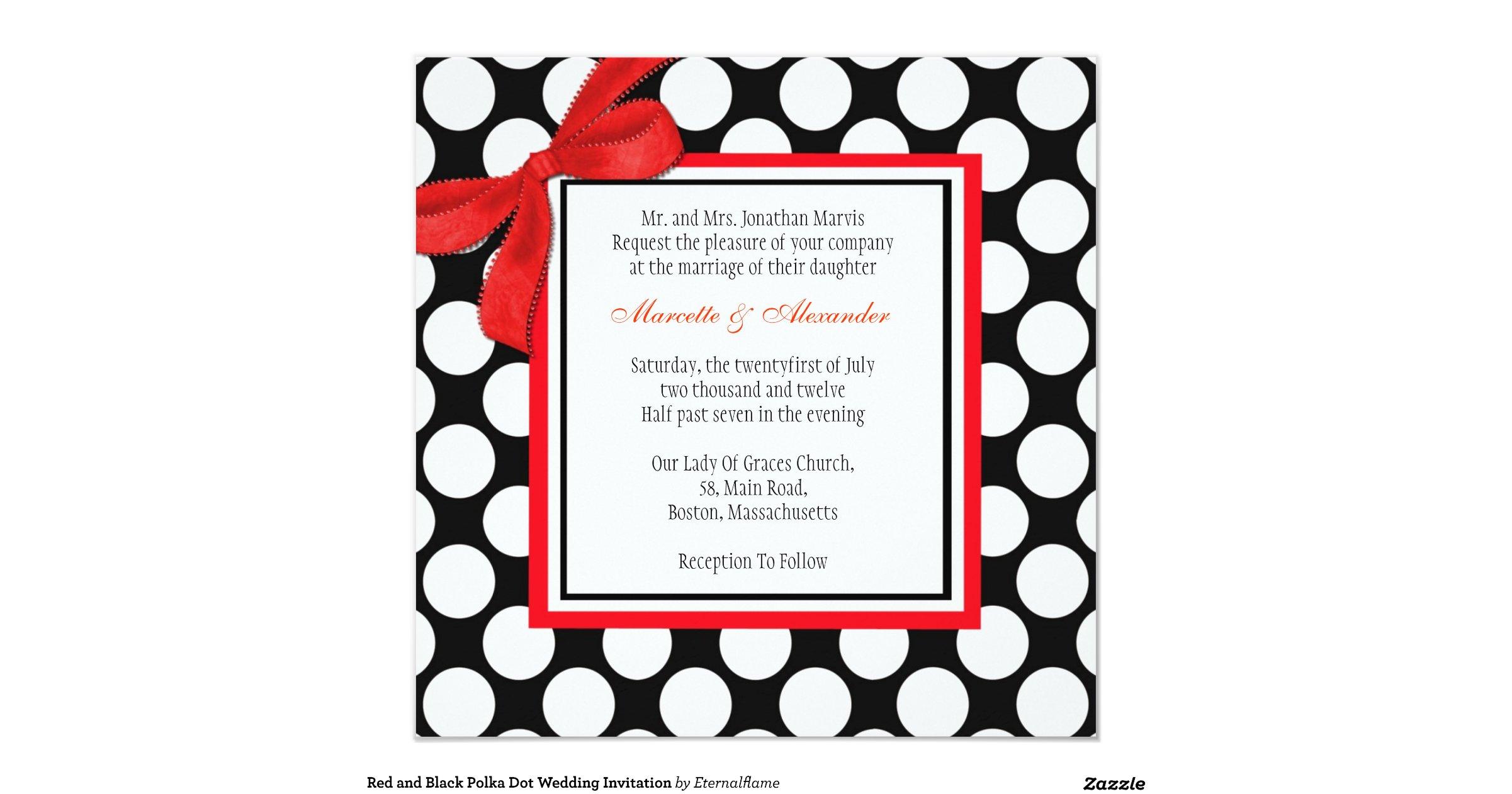 Wedding Invitations Red And Black: Red_and_black_polka_dot_wedding_invitation
