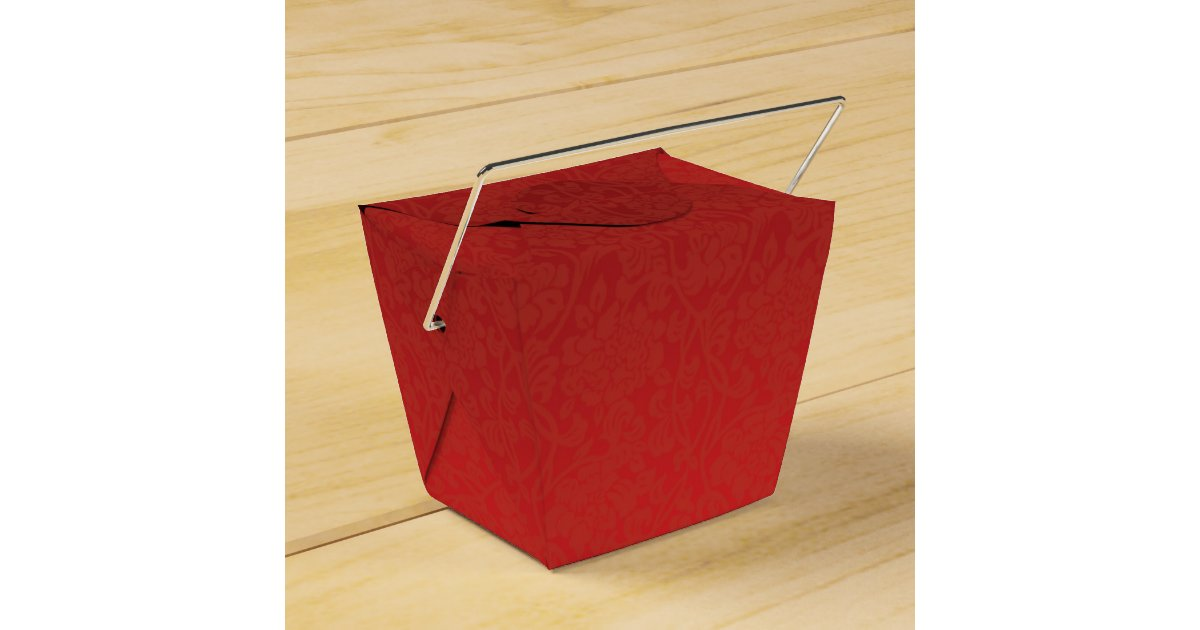 Red And Gold Chinese Double Happiness Favor Box