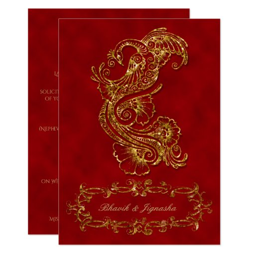 Red And Gold Muslim Wedding Invitation Card Ssc10r: Indian Wedding Invitation Cards