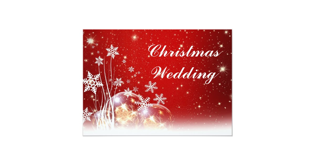 Christmas Wedding Invites: Red And White Christmas Wedding Invitation