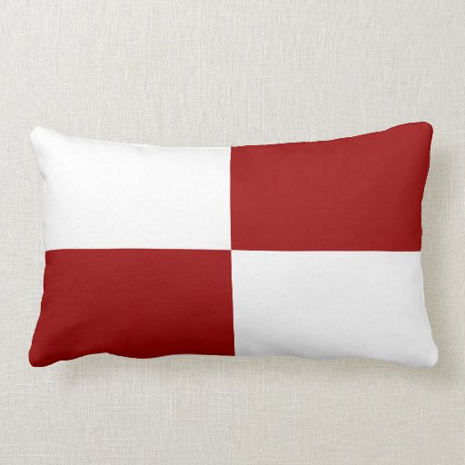 Red And White Couch Pillows: Red And White Rectangles Throw Pillow