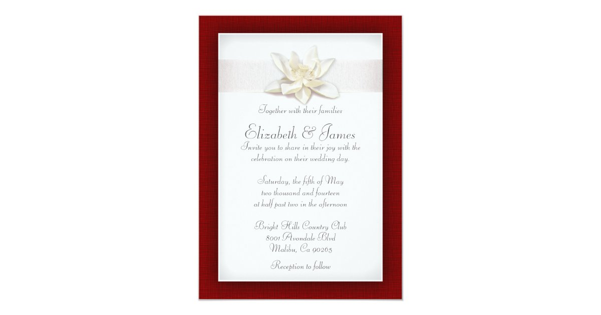 White And Red Wedding Invitations: Red And White Wedding Invitations