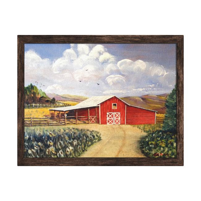 Red Barn West Virginia Farm Canvas Wrap Stretched Canvas Prints