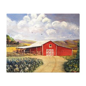 Red Barn West Virginia Farm Canvas Wrap Gallery Wrap Canvas