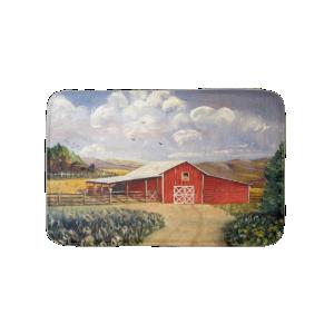 Red Barn West Virginia Farm Fine Art Painting Bath Mats
