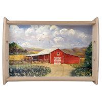 West Virginia Red Barn Farm Serving Tray