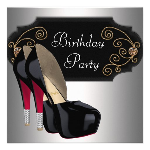 Personalized Red Shoes Invitations