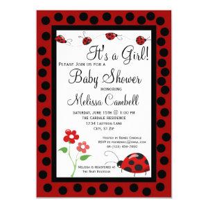 Ladybug Baby Shower Invite