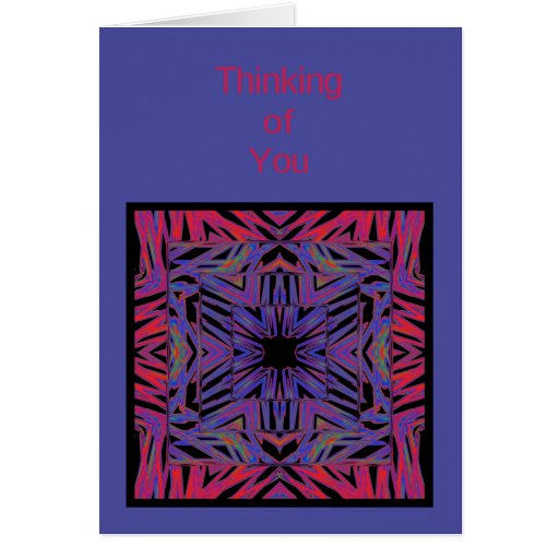 red blue abstract thinking of you card template zazzle. Black Bedroom Furniture Sets. Home Design Ideas