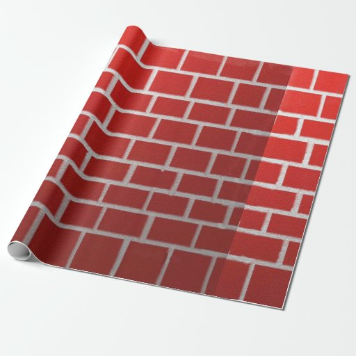 Red Brick Chimney Look Gift Wrapping Paper Zazzle