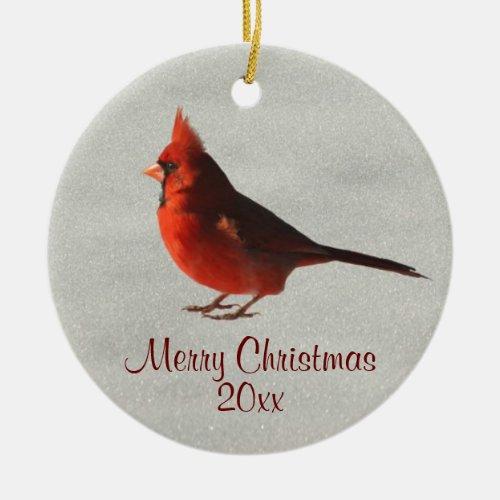 Red Cardinal on Snow cardinal tree ornaments