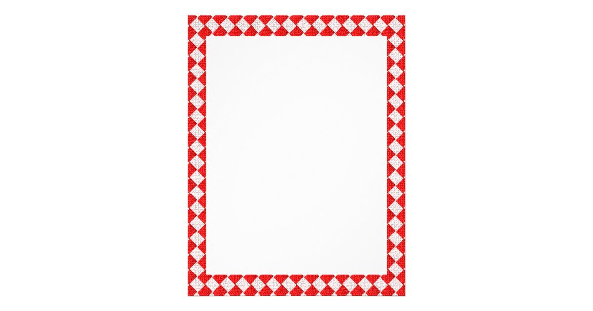 Red Checkered Picnic Tablecloth Background Flyer   Zazzle