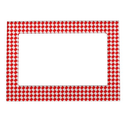 Red Checkered Picnic Tablecloth Background Photo Frame ...