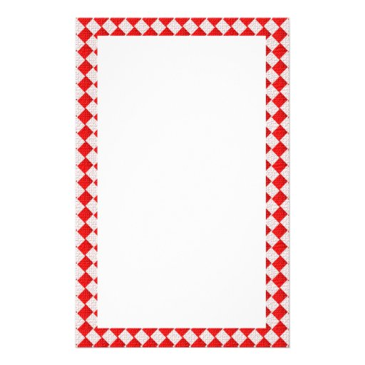 Red Checkered Picnic Tablecloth Background Stationery   Zazzle