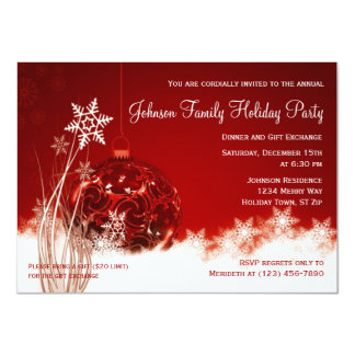 Ornament Exchange Invitations & Announcements   Zazzle