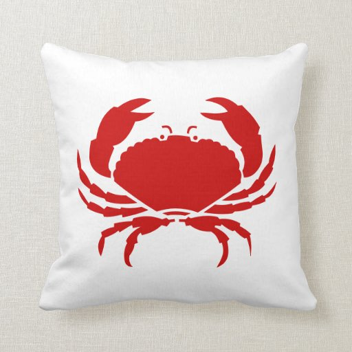 Red Crab Pillow Cushion Zazzle