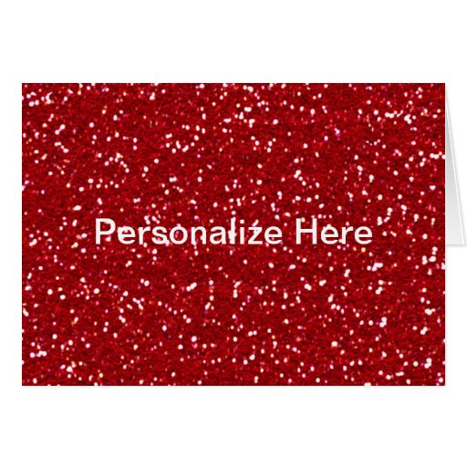 Red Glitter Christmas Card - Customize!