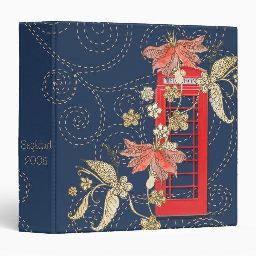 Red Phone Box Scrapbook Photo Album Binder
