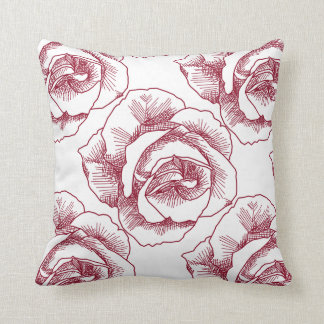 Rose Line Drawing Pillows - Decorative & Throw Pillows ...