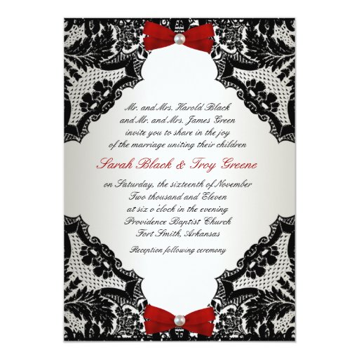 Wedding Invitations Red White And Black
