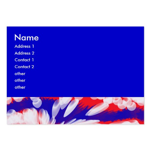 Red White And Blue, Large Business Cards (Pack Of 100