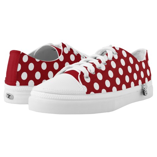 Black And White Polka Dot Tennis Shoes