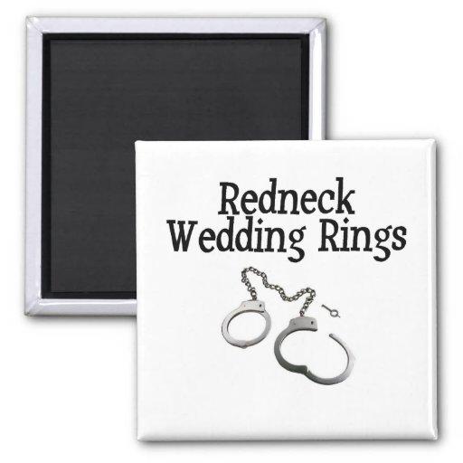 Redneck Wedding Rings Magnets