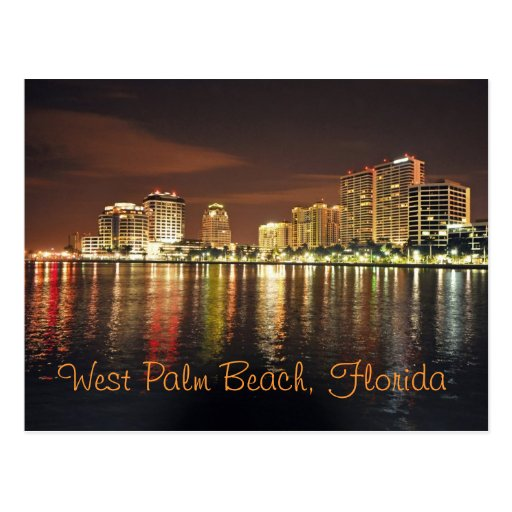 Reflections From West Palm Beach, Florida Postcard