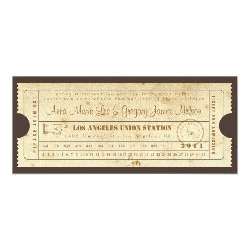 train ticket template word - rehearsal or welcome dinner ticket invitation zazzle