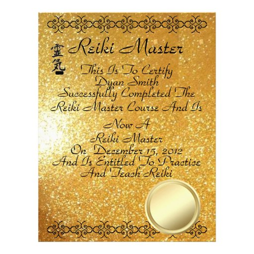 pin reiki certificate printable - photo #39