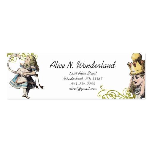 Reilaboration Of Vintage Alice In Wonderland Business Cards