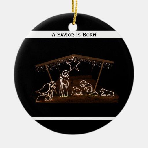 Religious Christmas Ornaments Religious Christmas: Religious Christian Christmas Ornament - Manger